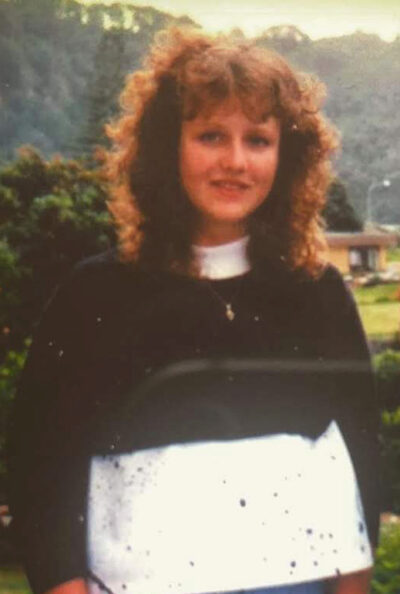 Tracey as a teenager